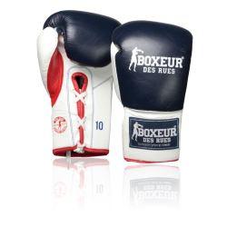 Боксови ръкавици от естествена кожа Boxeur Des Rues Competition с връзки BDR503