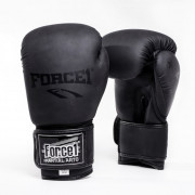 Боксови ръкавици FORCE 1 черни MAT F-1010