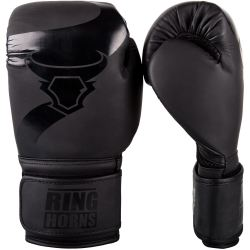 Боксови Ръкавици - Ringhorns Charger Boxing Gloves - Black / Black