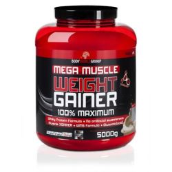 BWG Mega Muscle Weight Gainer 5kg.