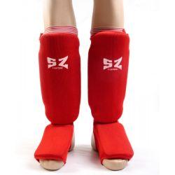 SZ Fighters Протектори за крака тип чорап - червен ластик