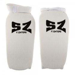 SZ Fighters Протектор за крака - бял ластик