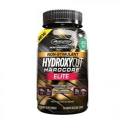 MuscleTech Hydroxycut Hardcore Elite Stim Free 100 caps.