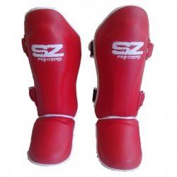 SZ Fighters Тай протектори за крака червени