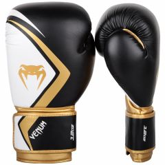 БОКСОВИ РЪКАВИЦИ - VENUM BOXING GLOVES CONTENDER 2.0 - BLACK/WHITE-GOLD